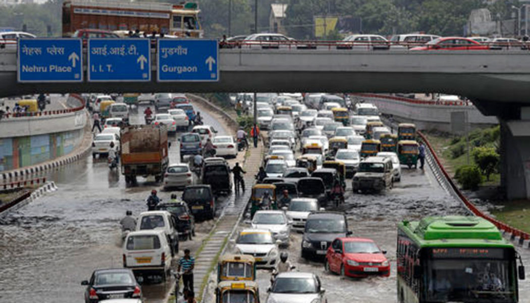 MCD aren't you floating? Delhi roads and monsoon chemistry still continues.
