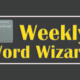 Real Estate Weekly Word Wizard.